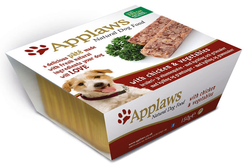 Applaws Natural Chicken & Veg Dog Pate 7 Pack - 150g