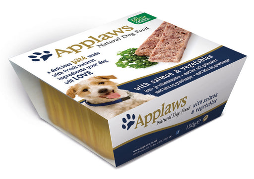 Applaws Natural Salmon & Veg Dog Pate 7 Pack - 150g