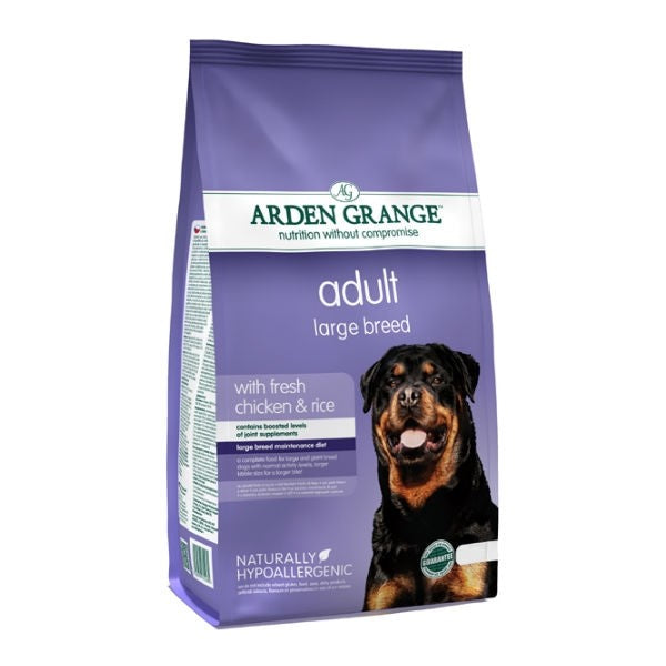 Arden Grange Adult Large Breed Chicken & Rice Dry Dog Food - 12kg