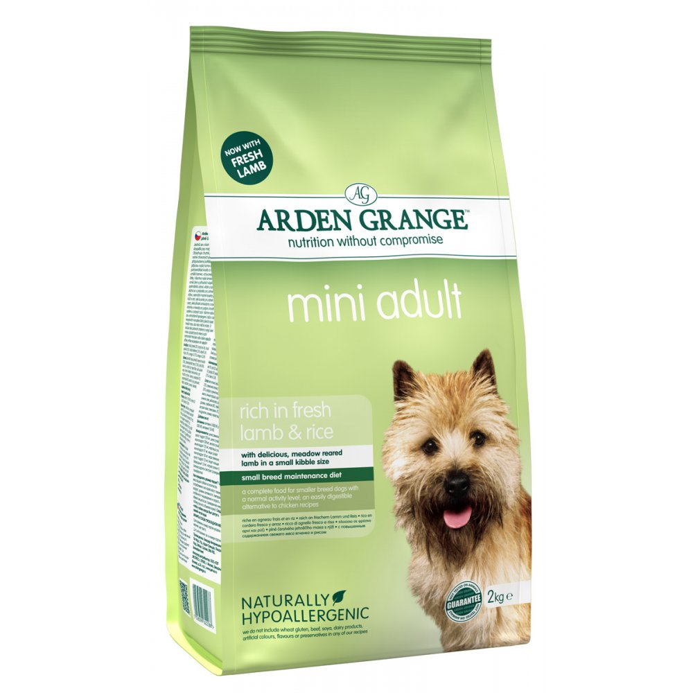 Arden Grange Adult Mini Lamb Dry Dog Food - 2kg