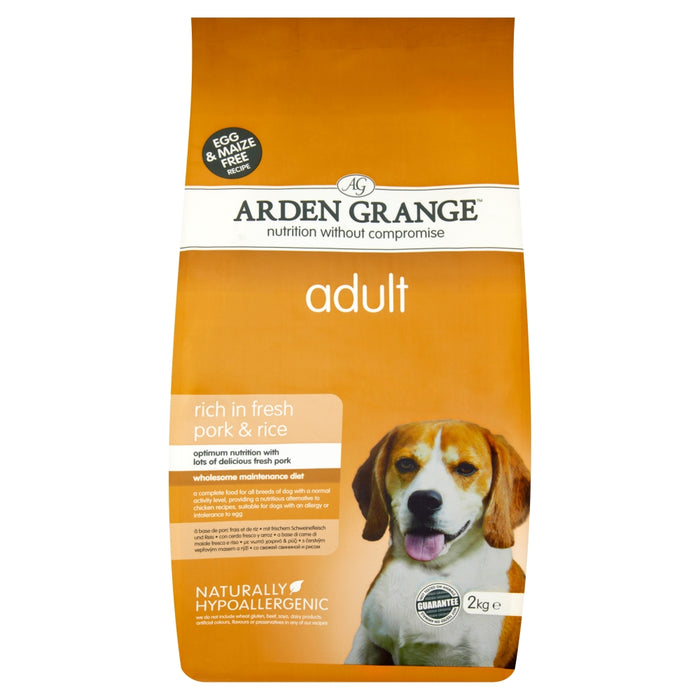Arden Grange Adult Pork & Rice Dry Dog Food - 12kg
