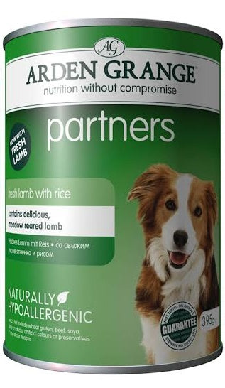 Arden Grange Partners Lamb with Rice 24 cans x 395g Dog Food - 1