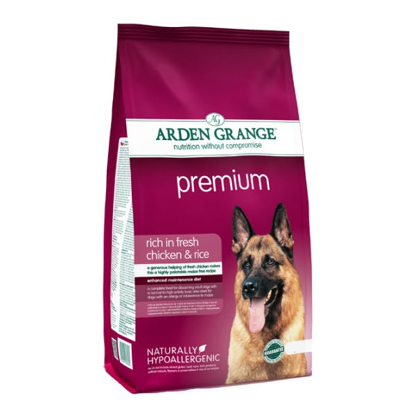 Arden Grange Premium with Fresh Chicken & Rice Dry Dog Food - 12kg