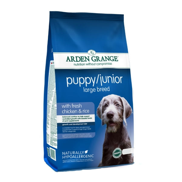 Arden Grange Puppy Junior Large Breed Chicken & Rice Dry Dog Food - 2kg