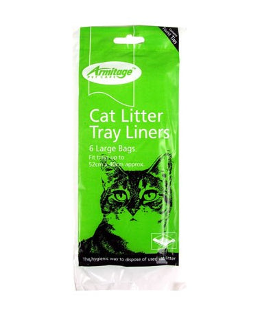 Armitage Cat Litter Tray Liners Large 6 per Pack 52 x 40 cm