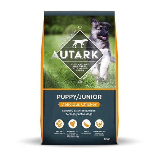 Autarky Puppy Junior Delicious Chicken Dry Dog Food - 12Kg