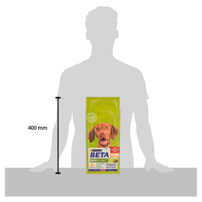 BETA Adult Dry Dog Food with Chicken 2kg - 3