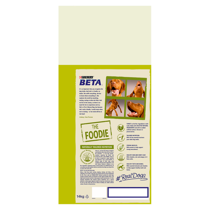 BETA Adult Dry Dog Food with Turkey & Lamb 14kg - 2