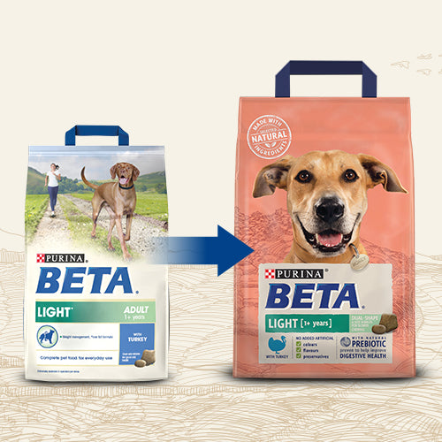 BETA Light Adult Dry Dog Food with Turkey - 14kg - 1