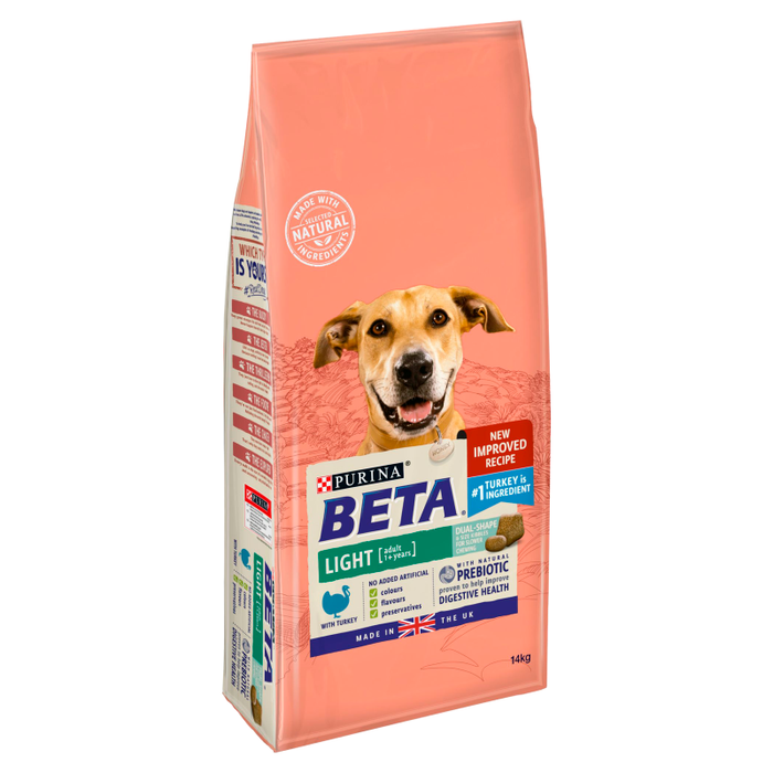 BETA Light Adult Dry Dog Food with Turkey - 14kg - 2