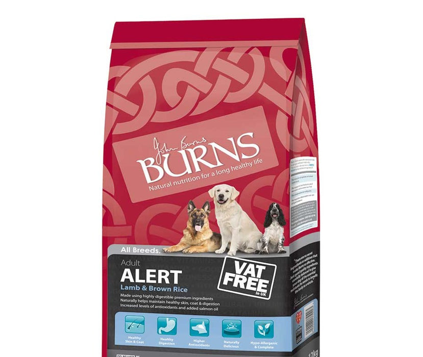 Burns Alert Lamb Dry Dog Food 6kg