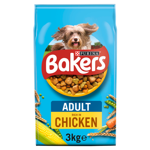 Bakers Adult Complete Chicken & Vegetables Dry Dog Food 3kg