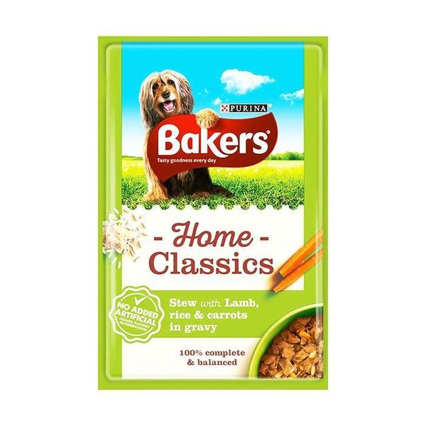 Bakers Home Gravy Classics Lamb Dog Food Pouches - 20 x 100g