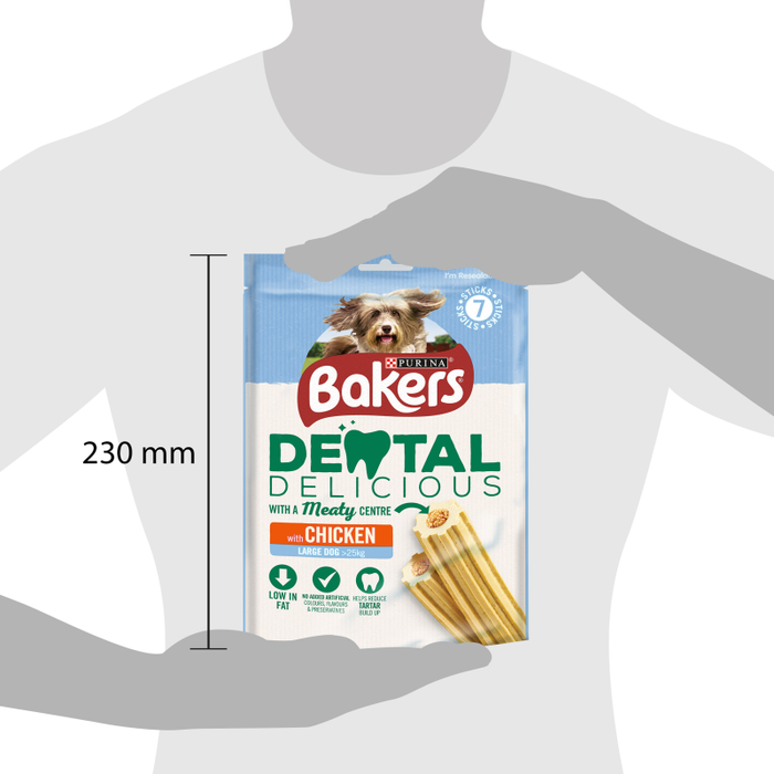 Bakers Large Dental Delicious with Chicken - 270g