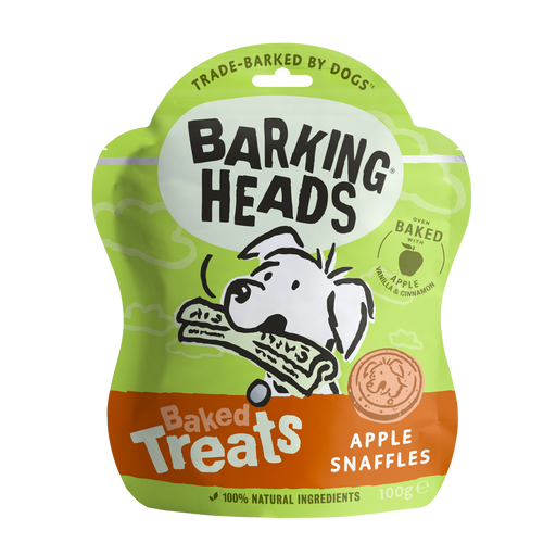 Barking Heads Apple Snaffles Dog Baked Treats 100g