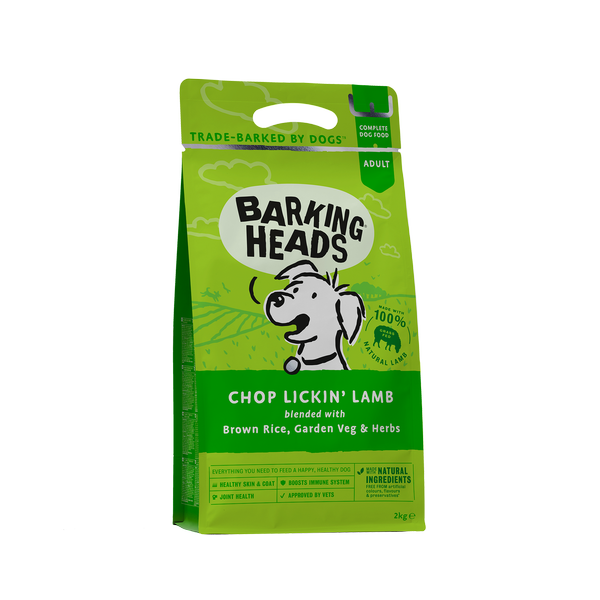Barking Heads Chop Lickin' Lamb Adult Dry Dog Food 2kg