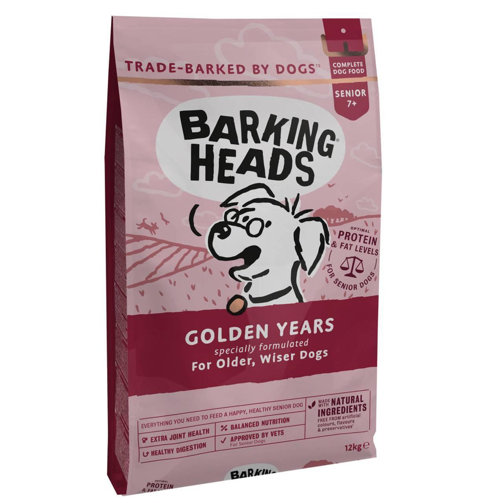 Barking Heads Golden Years Senior 7+ Dry Dog Food 12kg