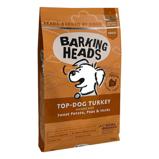 Barking Heads Top Dog Turkey Adult Grain Free Dry Food 12kg