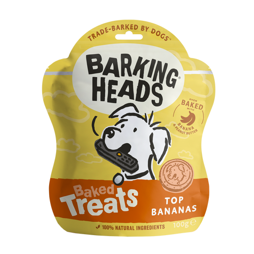 Barking Heads Top Bananas Dog Baked Treats 100g