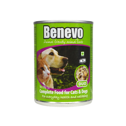 Benevo Duo Vegan Cat & Dog Food Cans 12 Pack - 369g