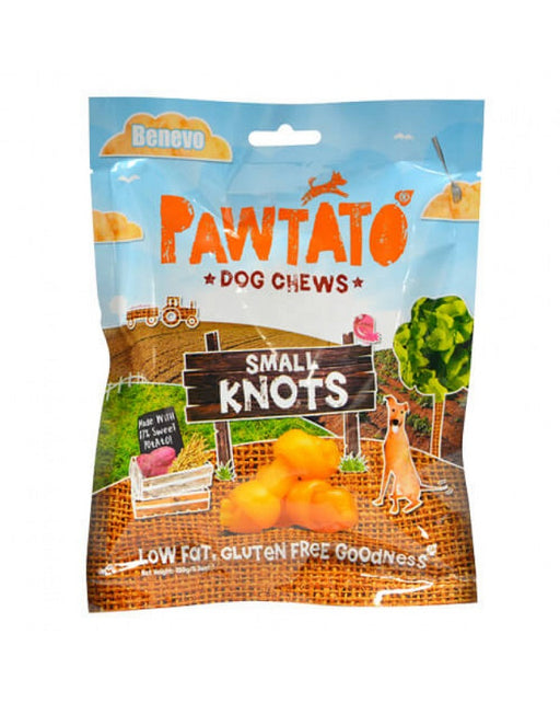Benevo Pawtato Small Knots Dog Chews Treats 150g