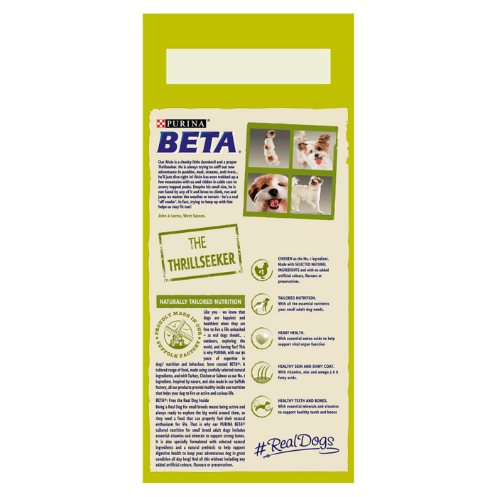 Beta Adult Small Breed Chicken Dry Dog Food 2kg - 2