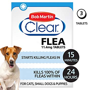 Bob Martin Clear Flea Tablets For Cats & Puppies & Small Dog 3 Tablets