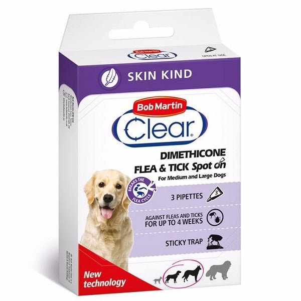 Bob Martin Clear Skin Spot On Large Dog - 3 pack