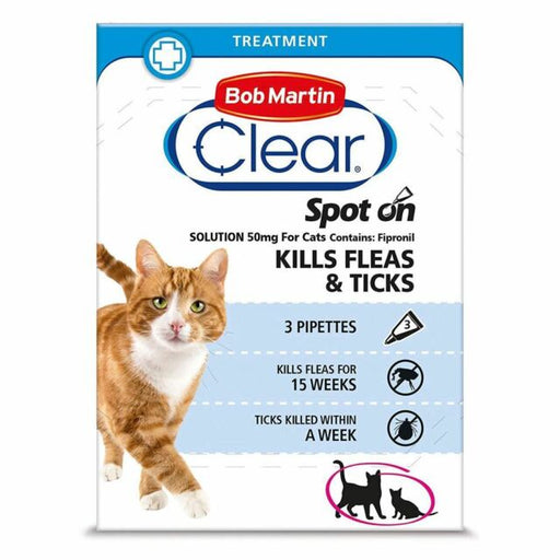 Bob Martin Flea & Ticks Clear Spot On for Cats - 3 pack