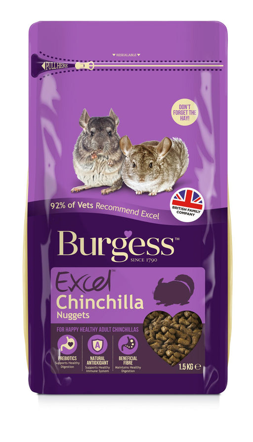 Burgess Excel Chinchilla Nuggets - 1.5kg