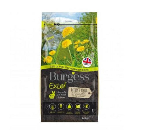 Burgess Excel Nature's Blend Rabbit Food - 1.5Kg