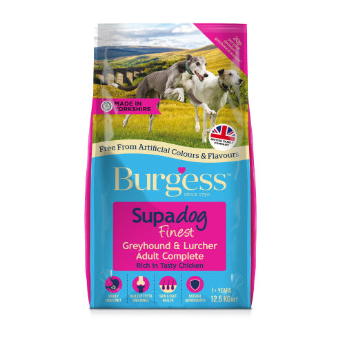 Burgess Greyhound & Lurcher Dry Dog Food - 12.5kg