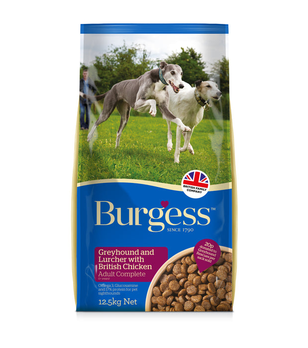 Burgess Greyhound & Lurcher Dry Dog Food - 12.5kg - 1