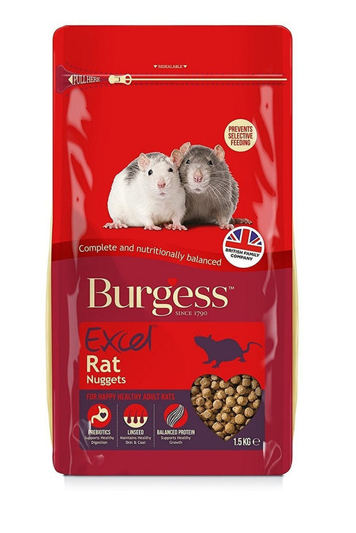 Burgess Excel Rat Nuggets Food Mix - 1.5kg