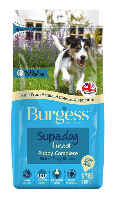 Burgess Supadog Puppy Complete Rich in Chicken Dry Dog Food 2kg
