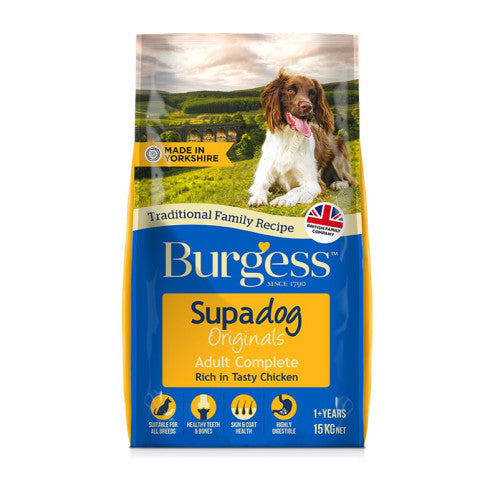 Burgess Supadog Adult Rich in Chicken Dry Dog Food - 15kg