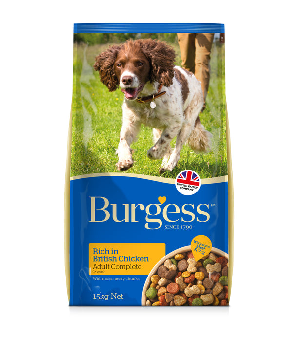 Burgess Supadog Adult Rich in Chicken Dry Dog Food - 15kg - 1