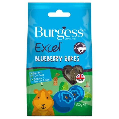Burgess Excel Blueberry Bakes Rabbit Treats - 80g