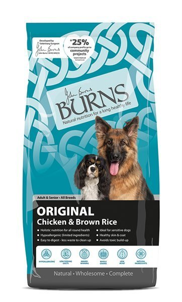 Burns Chicken & Brown Rice Dry Dog Food - 12kg