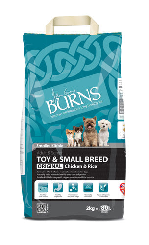 Burns Small Breed Chicken & Rice Dry Dog Food - 2kg