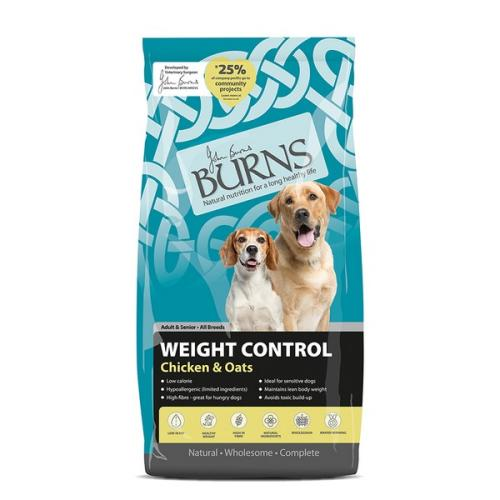 Burns WEIGHT CONTROL+ Chicken & Oats Dry Dog Food - 12kg