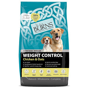 Burns Weight Control Chicken & Oats Dry Dog Food - 6kg