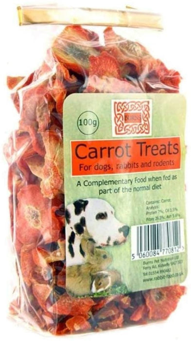Burns Dried Carrot Slice Natural Dog Chews - 100G