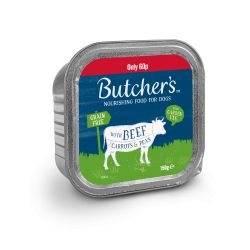 Butchers Choice Beef/ Carrots & Peas Wet Dog Cans - 12 x 150g