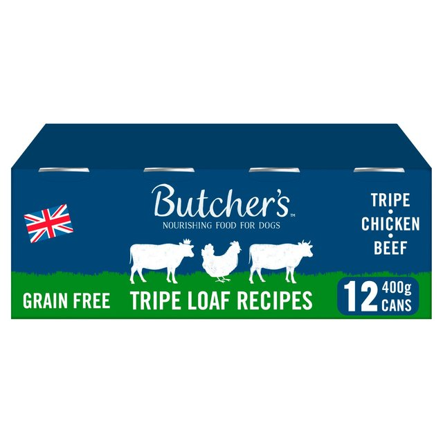 Butchers Tripe Loaf Recipes Wet Dog Food - 12 x 400g