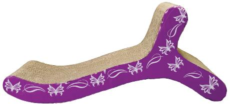 Catit Patterned Scratching Board With Catnip Chaise Design 41cm