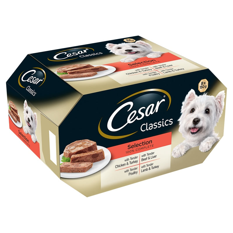 Cesar Classics Dog Alutrays Mixed Selection - 8 x 150g