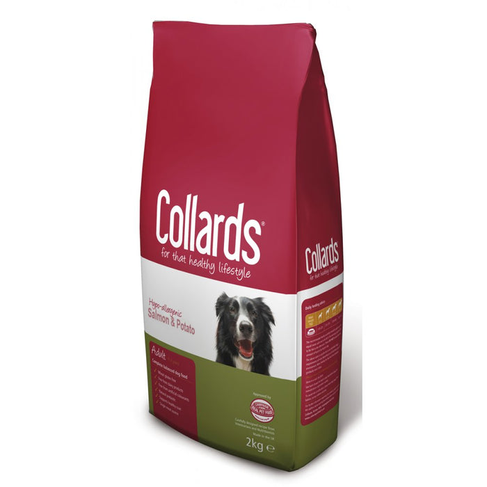 Collards Salmon & Potato Adult Dry Dog Food - 10kg