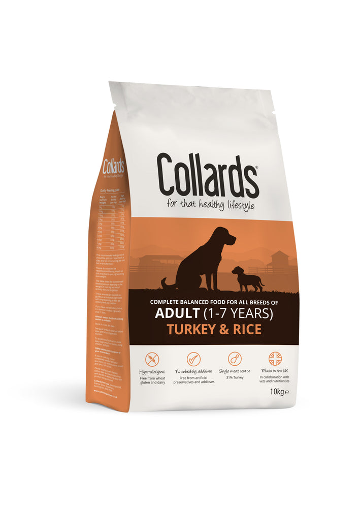 Collards Turkey & Rice Adult Dry Dog Food - 10kg