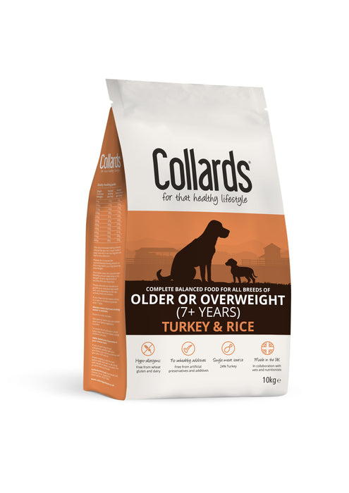 Collards Turkey & Rice Senior Dry Dog Food - 10kg
